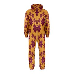 Purple And Yellow Flower Shower Hooded Jumpsuit (Kids)