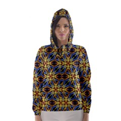 Vibrant Medieval Check Hooded Wind Breaker (Women)