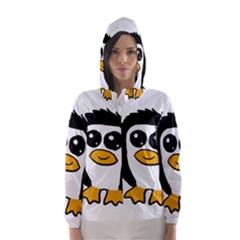 Chibii Penguin Hooded Wind Breaker (Women)