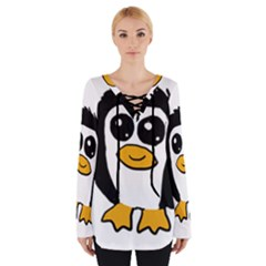 Chibii Penguin Women s Tie Up Tee