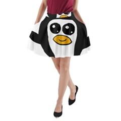 Chibii Penguin A-Line Pocket Skirt