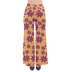 Purple And Yellow Flower Shower Pants