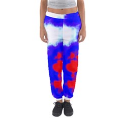 Red White And Blue Sky Women s Jogger Sweatpants