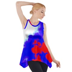 Red White And Blue Sky Side Drop Tank Tunic