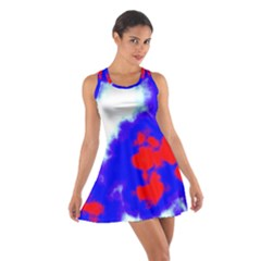 Red White And Blue Sky Racerback Dresses