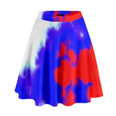 Red White And Blue Sky High Waist Skirt