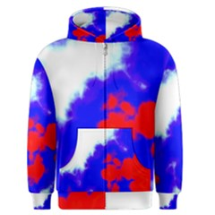 Red White And Blue Sky Men s Zipper Hoodie