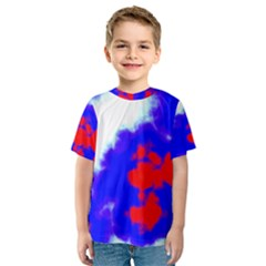 Red White And Blue Sky Kid s Sport Mesh Tee