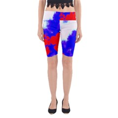 Red White And Blue Sky Yoga Cropped Leggings