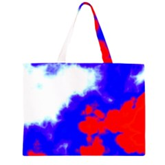 Red White And Blue Sky Large Tote Bag