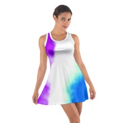 Pink White And Blue Sky Racerback Dresses