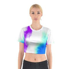 Pink White And Blue Sky Cotton Crop Top