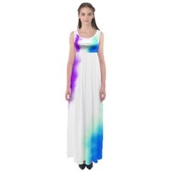 Pink White And Blue Sky Empire Waist Maxi Dress