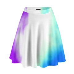 Pink White And Blue Sky High Waist Skirt