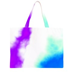 Pink White And Blue Sky Large Tote Bag