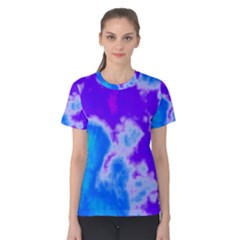 Purple And Blue Clouds Women s Cotton Tee