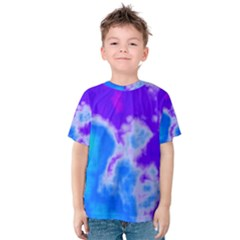 Purple And Blue Clouds Kid s Cotton Tee