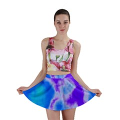 Purple And Blue Clouds Mini Skirt