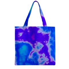 Purple And Blue Clouds Grocery Tote Bag