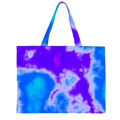 Purple And Blue Clouds Large Tote Bag