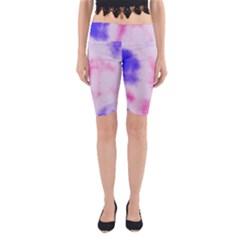 Pink N Purple Yoga Cropped Leggings