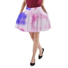 Pink N Purple A Line Pocket Skirt