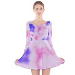 Pink N Purple Long Sleeve Velvet Skater Dress