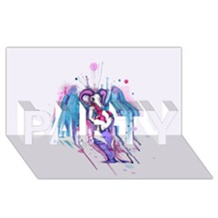 Dirty Wings PARTY 3D Greeting Card (8x4)