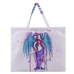 Dirty Wings Zipper Large Tote Bag
