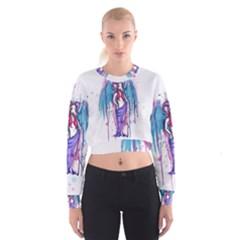 Dirty Wings Women s Cropped Sweatshirt