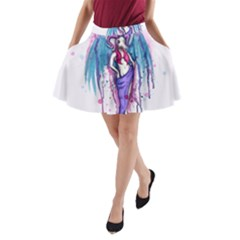 Dirty Wings A Line Pocket Skirt