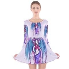 Dirty Wings Long Sleeve Velvet Skater Dress