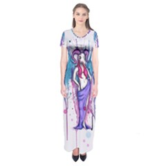 Dirty Wings Short Sleeve Maxi Dress