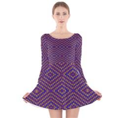 HEARTS Long Sleeve Velvet Skater Dress
