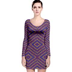 HEARTS Long Sleeve Velvet Bodycon Dress