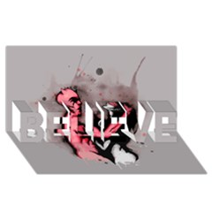 Come Play BELIEVE 3D Greeting Card (8x4)