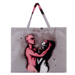 Come Play Zipper Large Tote Bag