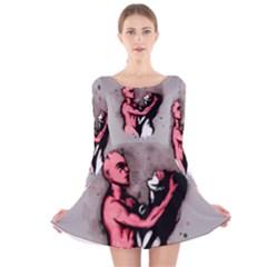 Come Play Long Sleeve Velvet Skater Dress