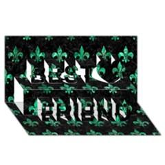 RYL1 BK-GR MARBLE (R) Best Friends 3D Greeting Card (8x4)