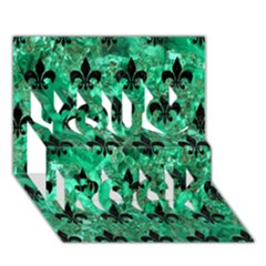 Royal1 Black Marble & Green Marble You Rock 3d Greeting Card (7x5)