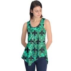 Royal1 Black Marble & Green Marble Sleeveless Tunic