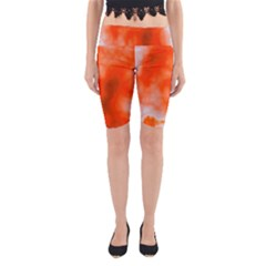 Orange Essence  Yoga Cropped Leggings