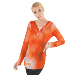 Orange Essence  Women s Tie Up Tee