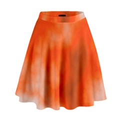 Orange Essence  High Waist Skirt
