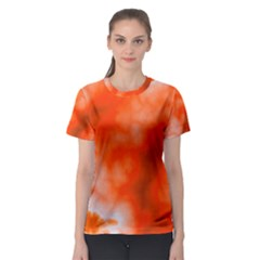 Orange Essence  Women s Sport Mesh Tee