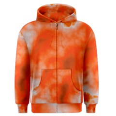 Orange Essence  Men s Zipper Hoodie
