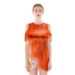 Orange Essence  Cutout Shoulder Dress