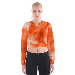 Orange Essence  Women s Cropped Sweatshirt
