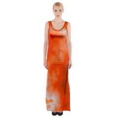 Orange Essence  Maxi Thigh Split Dress