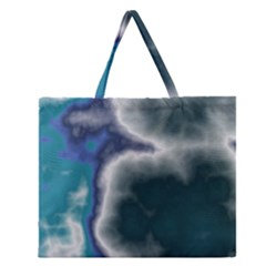 Oceanic Zipper Large Tote Bag